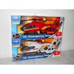 Teama 1:48 záchranáři auto a vrtulník 2ass