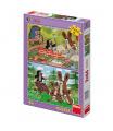 Dino dětské puzzle Krtek a zajíci 2x66D