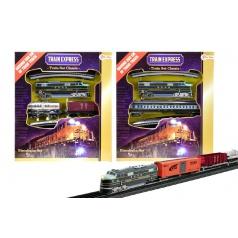 Teddies Vlak s kolejemi plast délka dráhy 360cm na baterie se světlem asst 3 druhy
