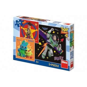 Dino Puzzle Toy Story 4 18x18cm 3x55 dílků v krabici 27x19x3,5cm