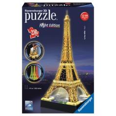 Ravensburger Eiffelova věž 3D puzzle 216d svítící LED