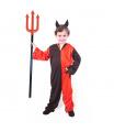 Rappa Dětský kostým čert s rohy (M)