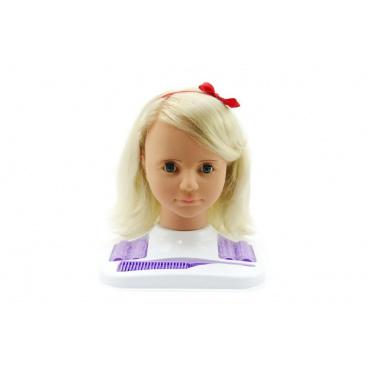 Hamiro Česací hlava velká blond s doplňky v krabici 24x28x19cm