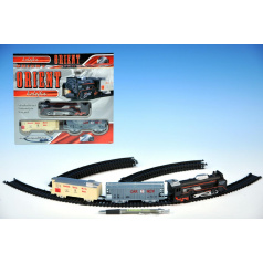 Dromader Orient Vlak + 2 vagóny délka dráhy 210cm na baterie se světlem v krabici