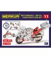MERKUR - Stavebnice Merkur 011 Motocykl, 222 dílů, 10 modelů