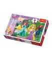Trefl Puzzle Locika, Merida, Ariel a Sněhurka Princezny Disney 27x20cm 30 dílků v krabičce 21x14x4cm