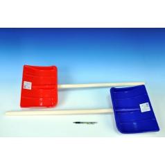 Lopata na vyhrňovaniu snehu drevo/plast 87cm asst 2 farby