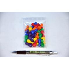 Figurky na Člověče nezlob se, náhradní dřevěné 25mm, 24ks, 6 barev