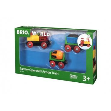 Brio 33319 Elektrická mašinka s vagónky a světly