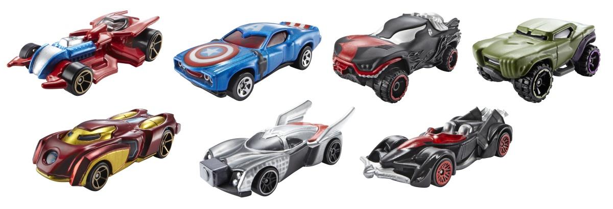 Mattel Hot Wheels MARVEL KULTOVNÍ ANGLIČÁK ASST BDM71