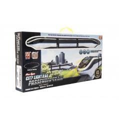 Teddies Vlak s koľajami plast 45ks na batérie so svetlom so zvukom v krabici 54x27x7cm