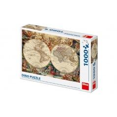 Dino Puzzle historická mapa 1000 dílků 66x47cm v krabici 32x23x7cm