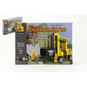 Dromader Stavebnice Dromader Auto Vysokozdvižný Vozík 29501 206ks v krabici 25,5x18,5x4,5cm