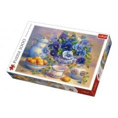 Trefl Puzzle Modrá Kytice 1000 dílků v krabici 40x27x6cm