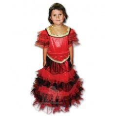 dětský karnevalový kostým princezna plamínek velikost S