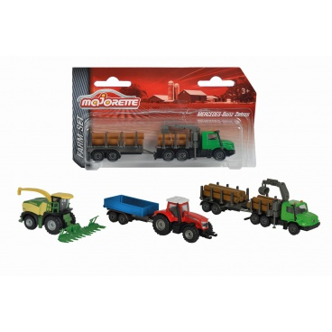 Majorette Farmářské vozidlo kovové Farm Set, 3 druhy