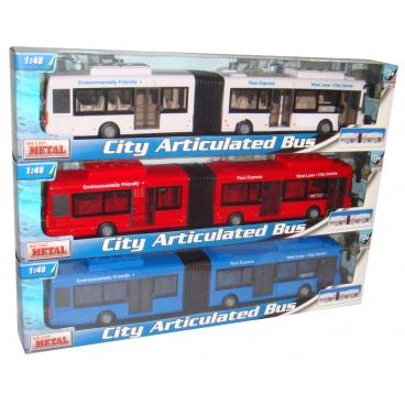 Mac Toys Teama Mac Toys 1:48 Autobus kloubový 3ass
